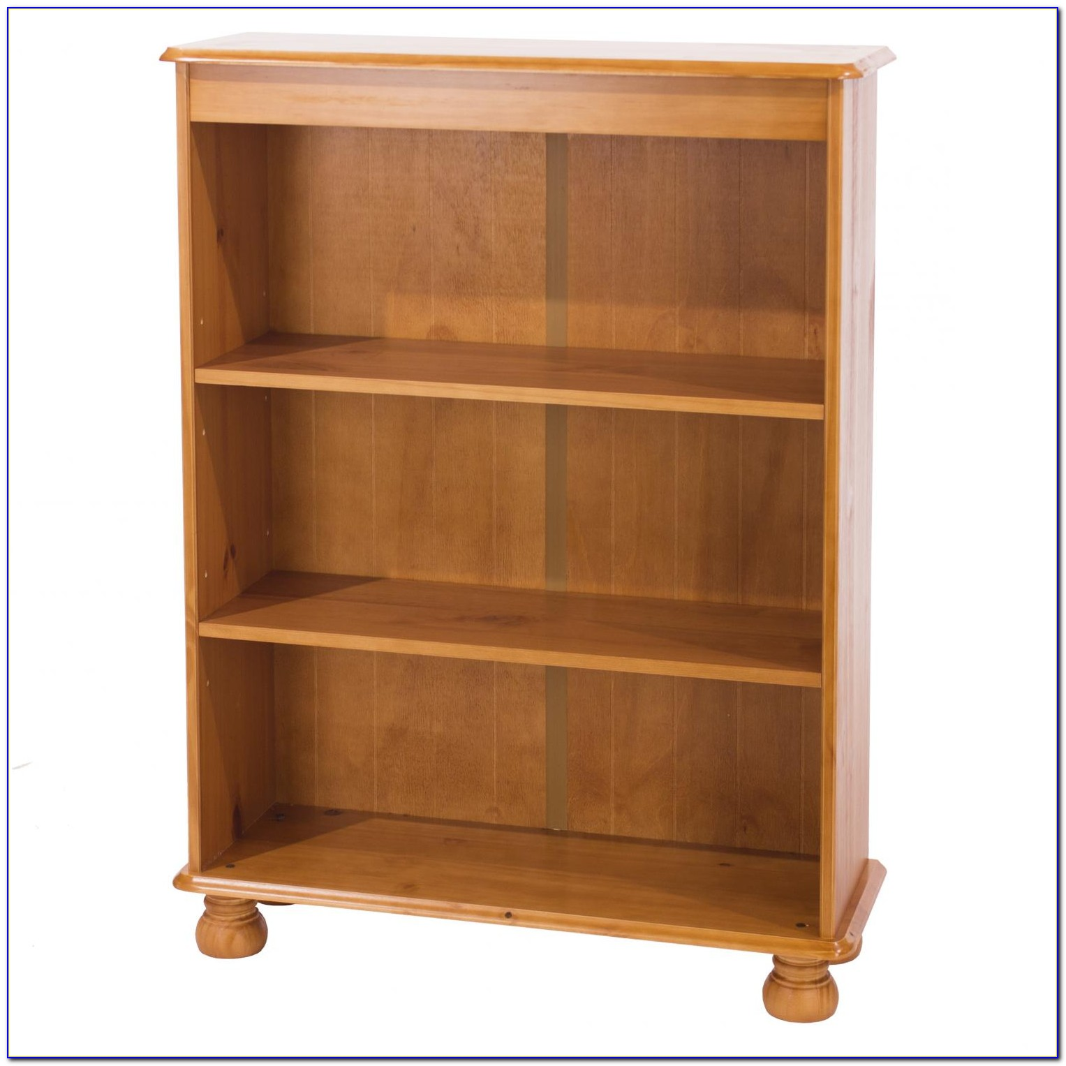 Knotty Pine Wood Bookcase