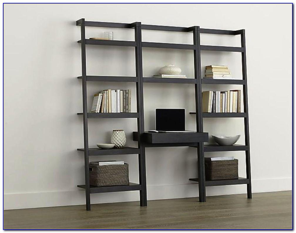 Leaning Desk And Bookshelf