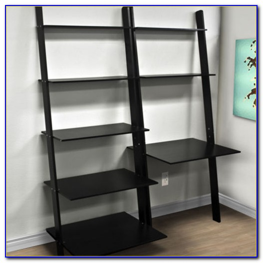 Leaning Wall Desk And Bookcase