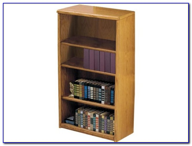 Light Oak Veneer Bookcase