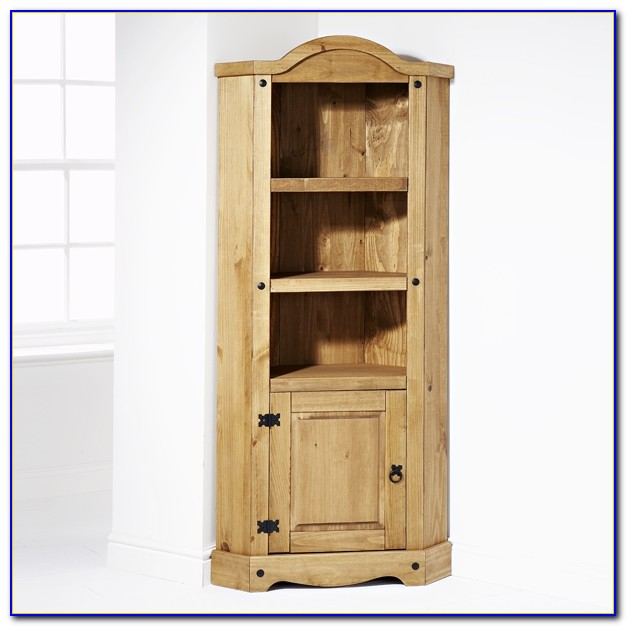 Loxley Pine Corner Bookcase