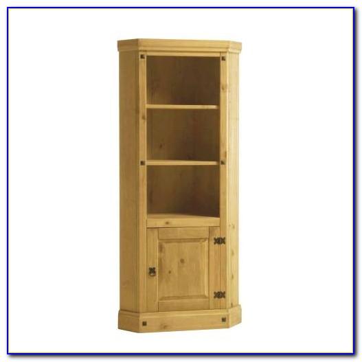 Mexican Pine Corner Bookcase