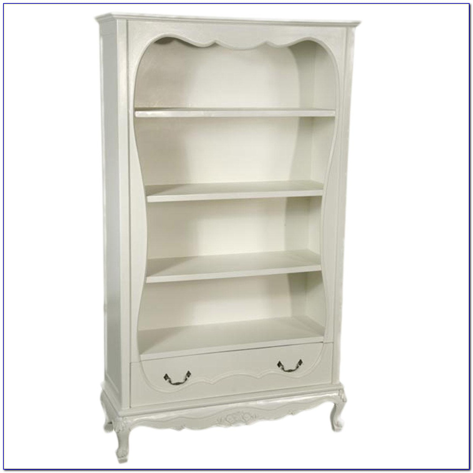 Narrow Bookcase Antique White
