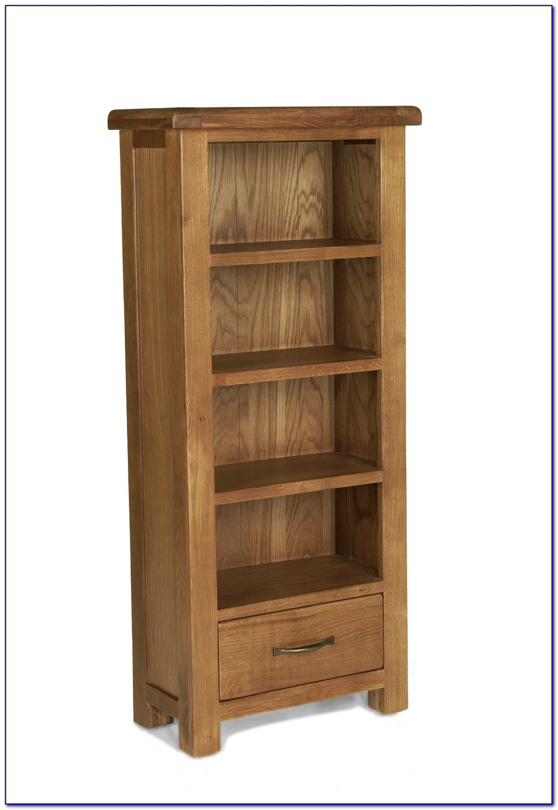 Narrow Oak Bookcase