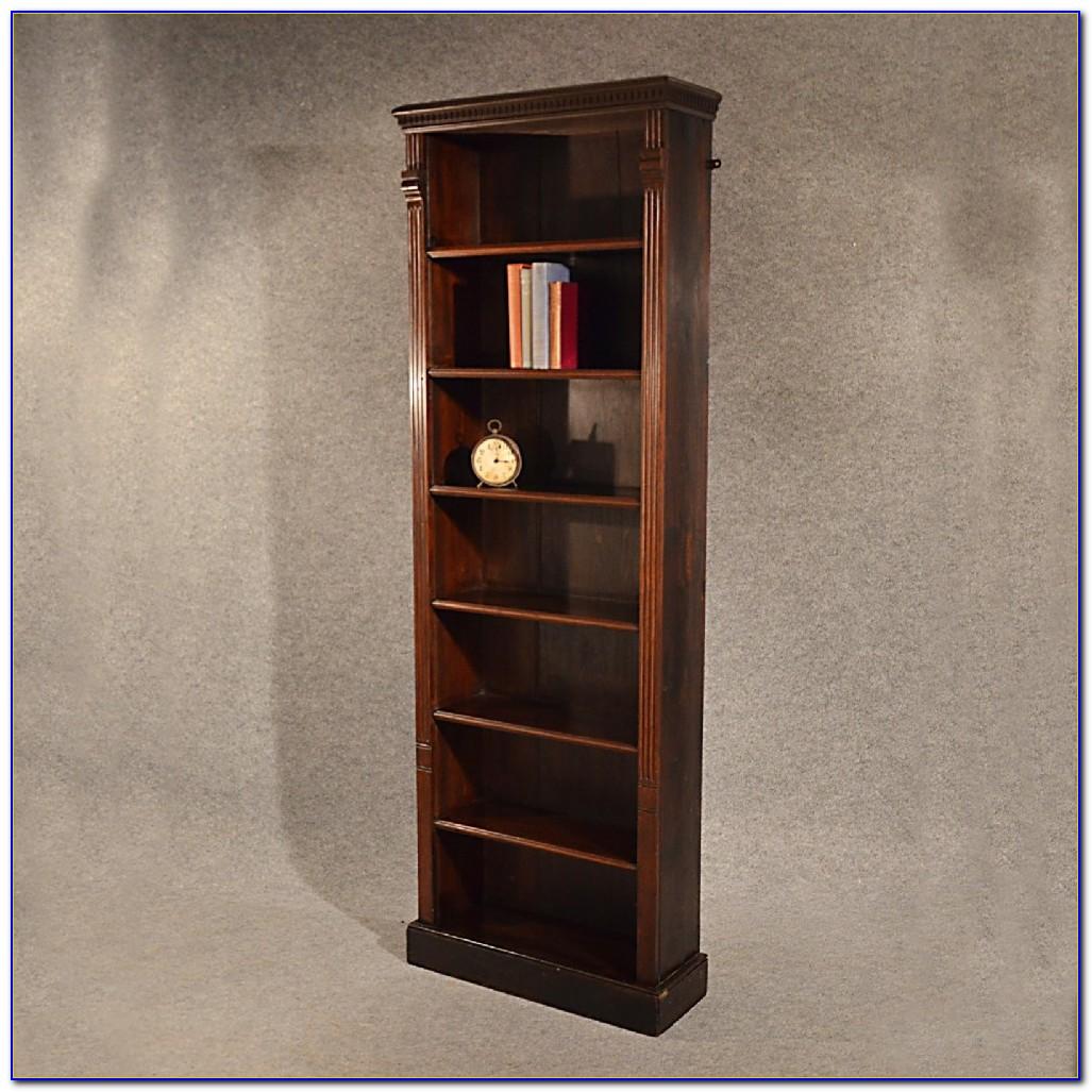 Narrow Oak Bookshelves