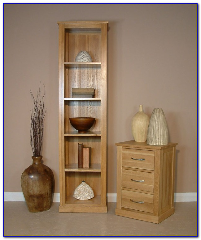Narrow Oak Shelves