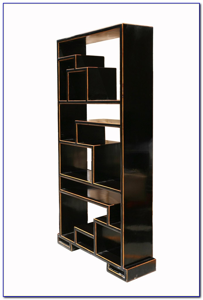 Oak Bookcase Display Cabinet