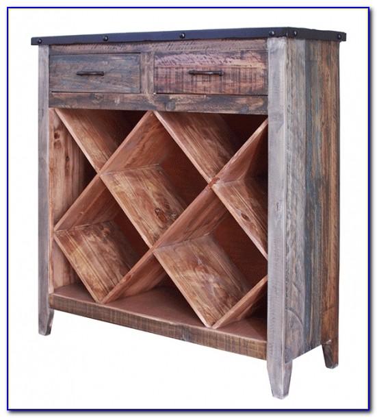 Oak Bookcase Wine Rack