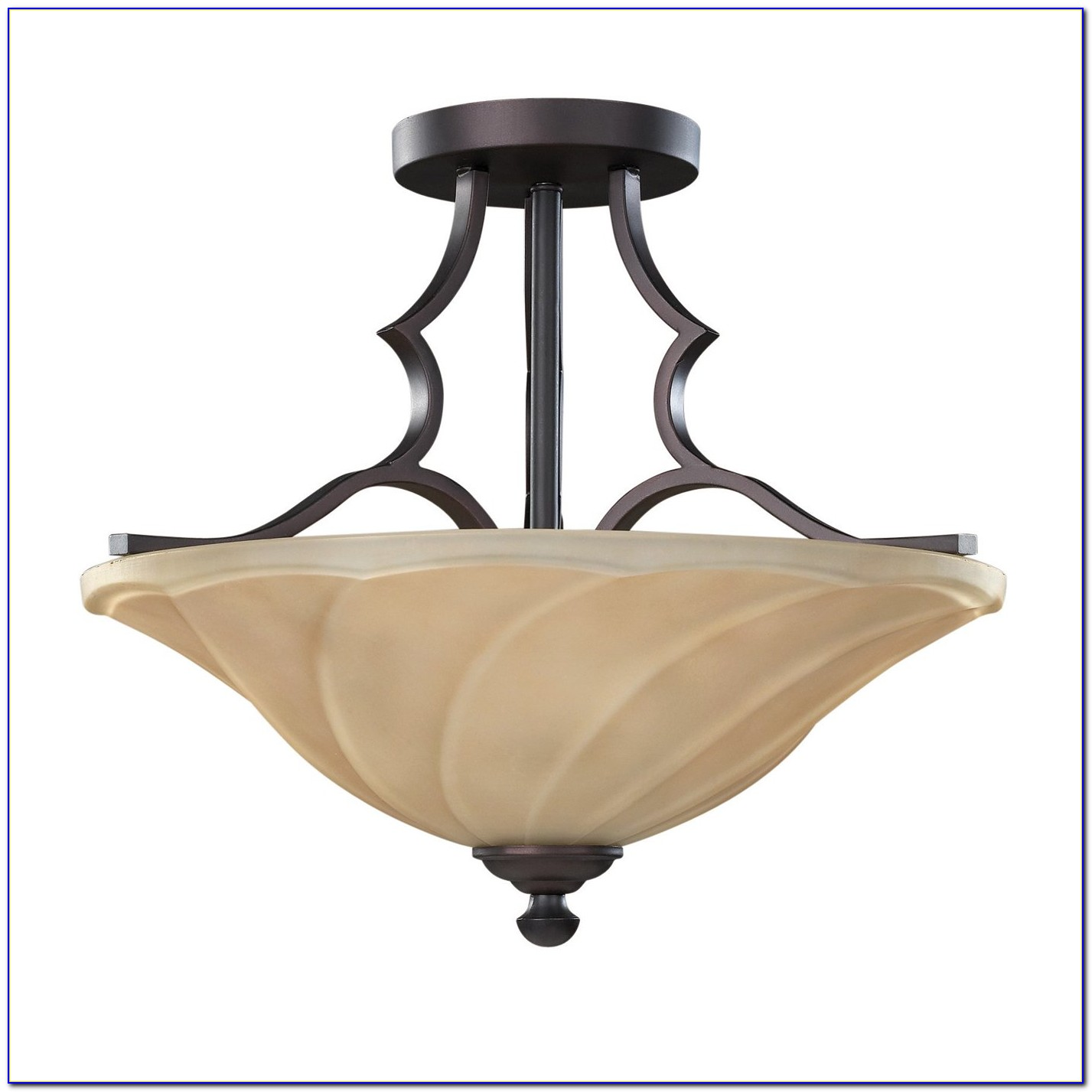 Oil Rubbed Bronze Semi Flush Ceiling Light