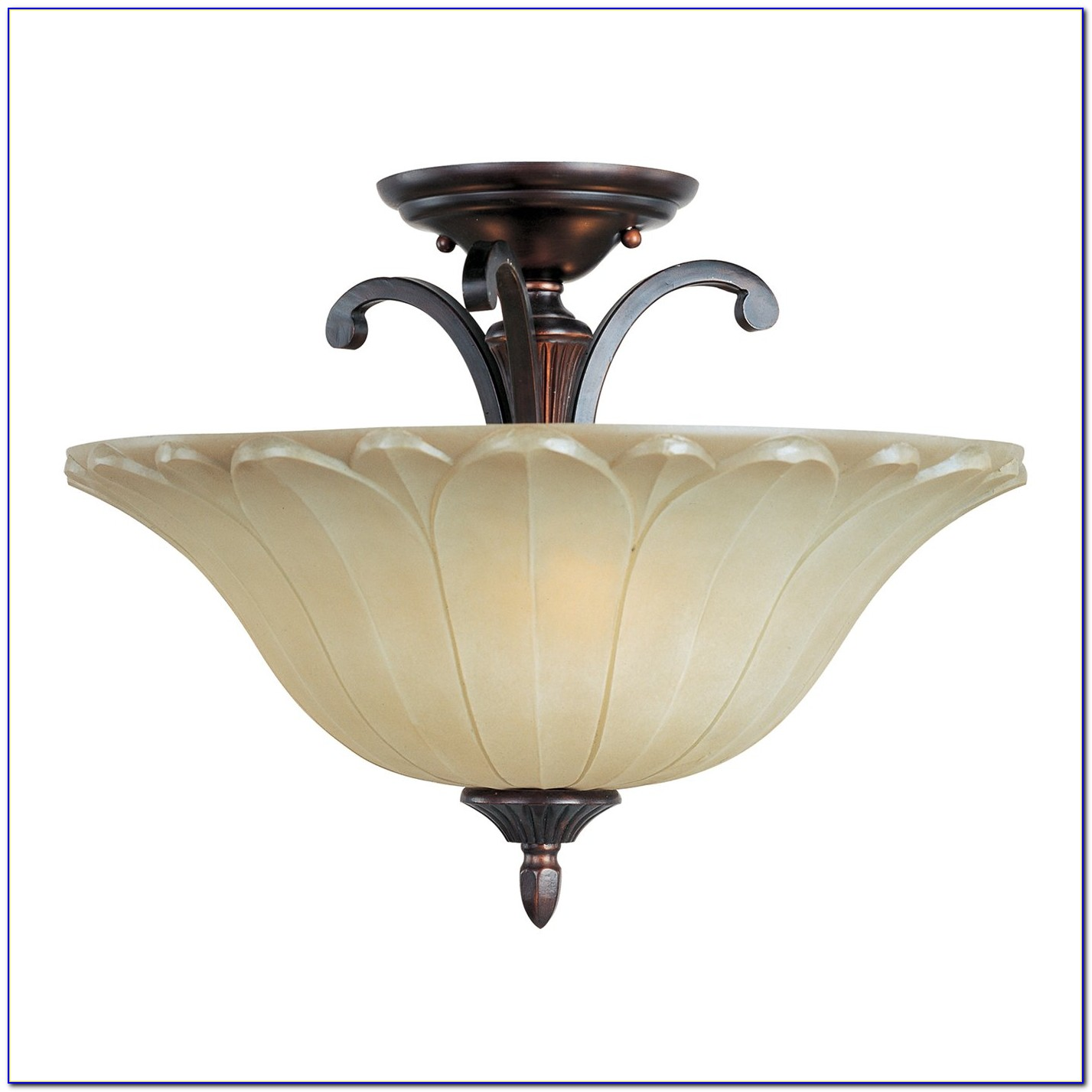 Oil Rubbed Bronze Semi Flush Mount Light