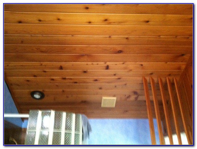 Painting Tongue And Groove Wood Ceiling