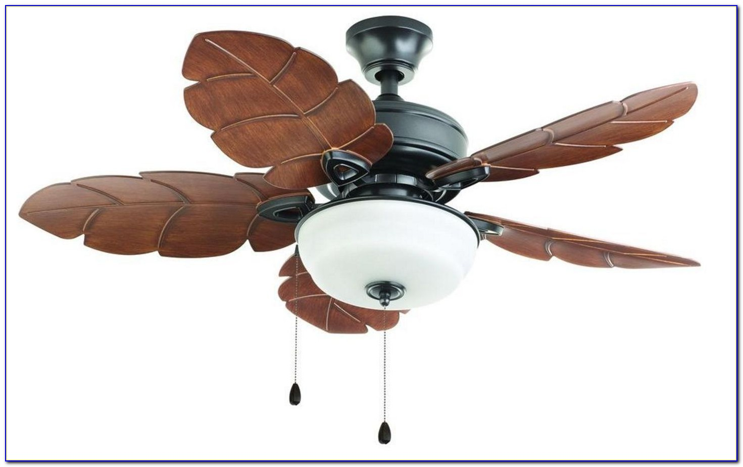 Palm Leaf Ceiling Fan With Light Kit
