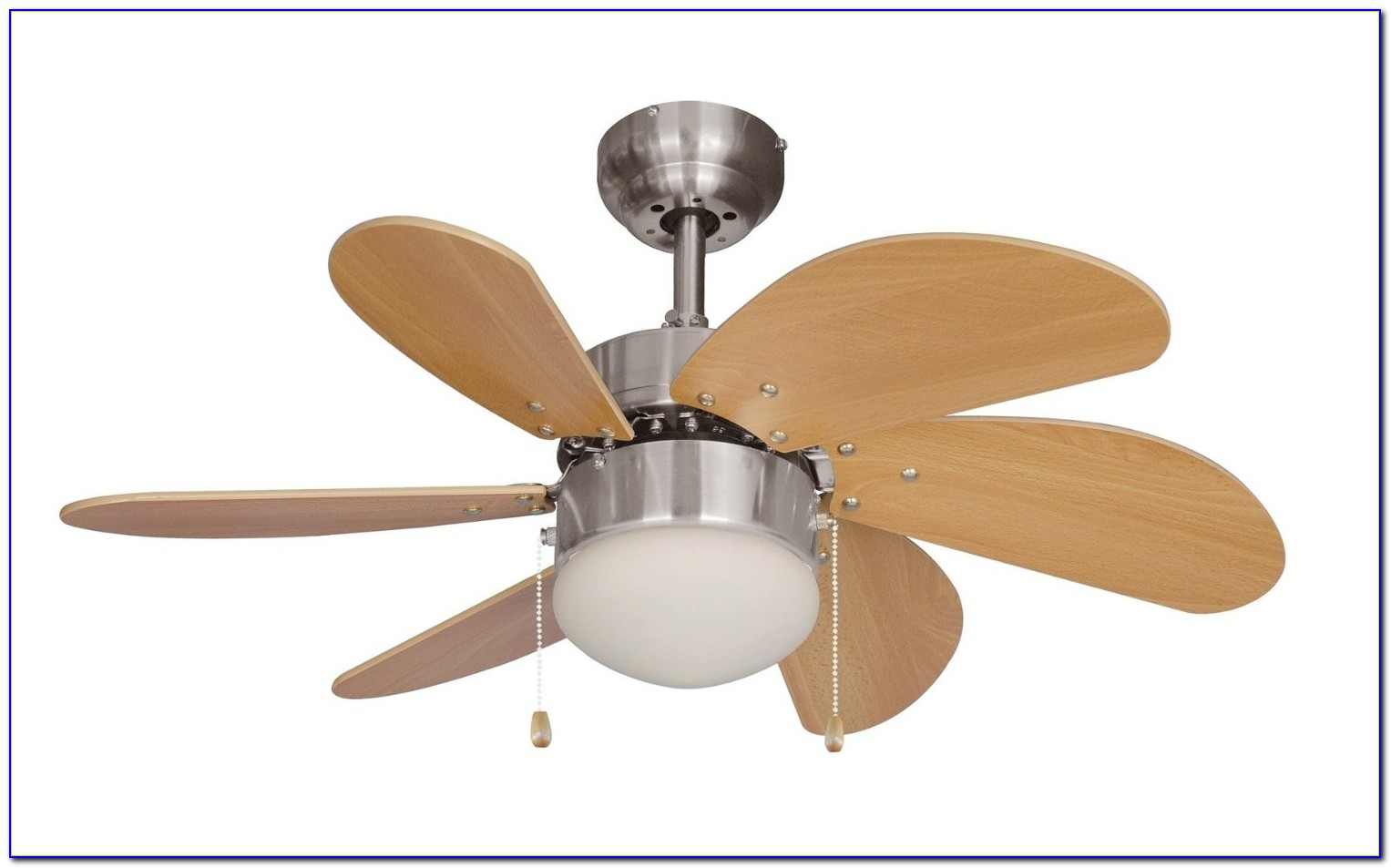 Retractable Blade Ceiling Fan With Light