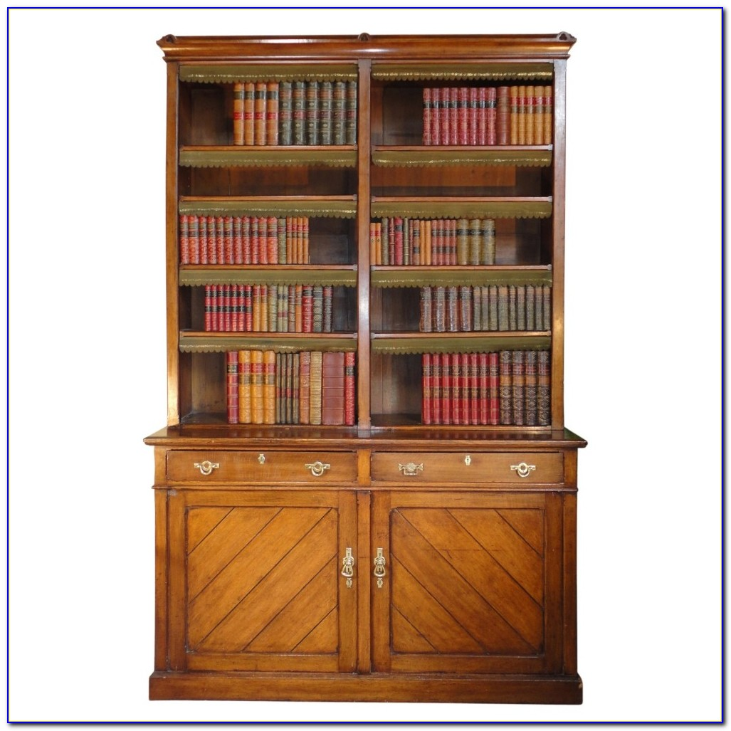Royal Oak Library Bookcase With Ladder