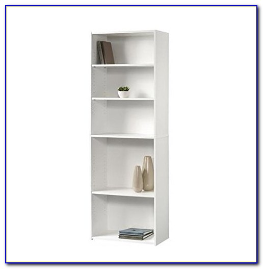 Sauder 5 Shelf Bookcase White