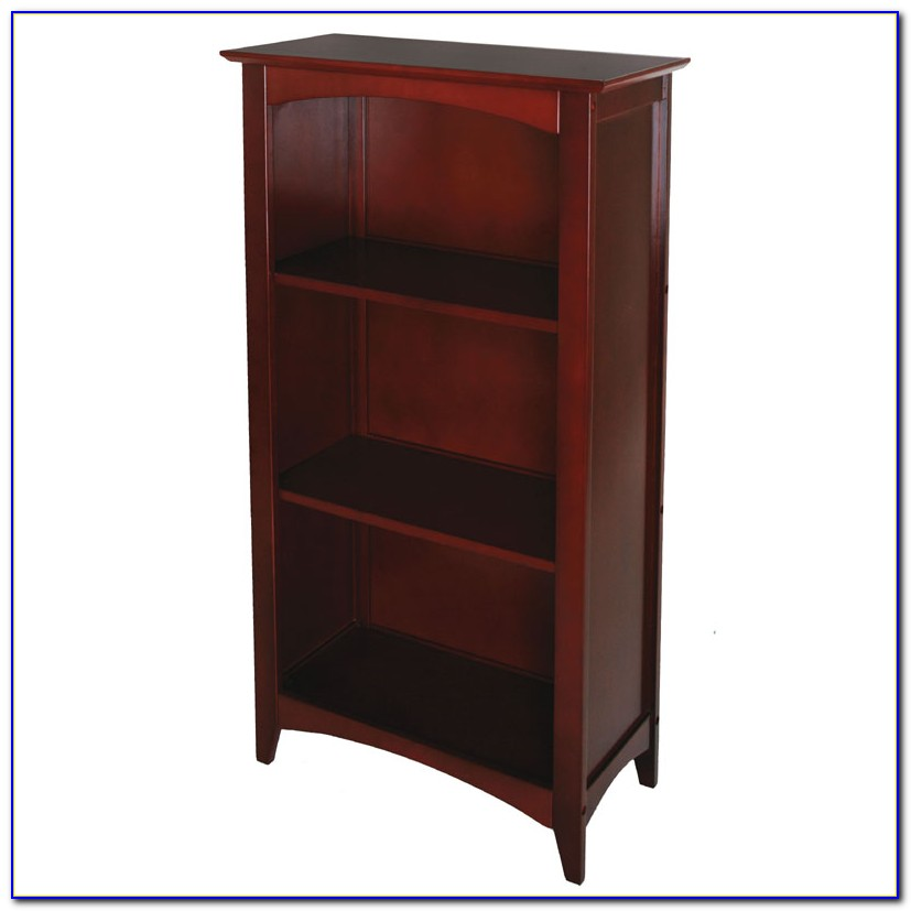 Sauder Beginnings 3 Shelf Bookcase Cinnamon Cherry