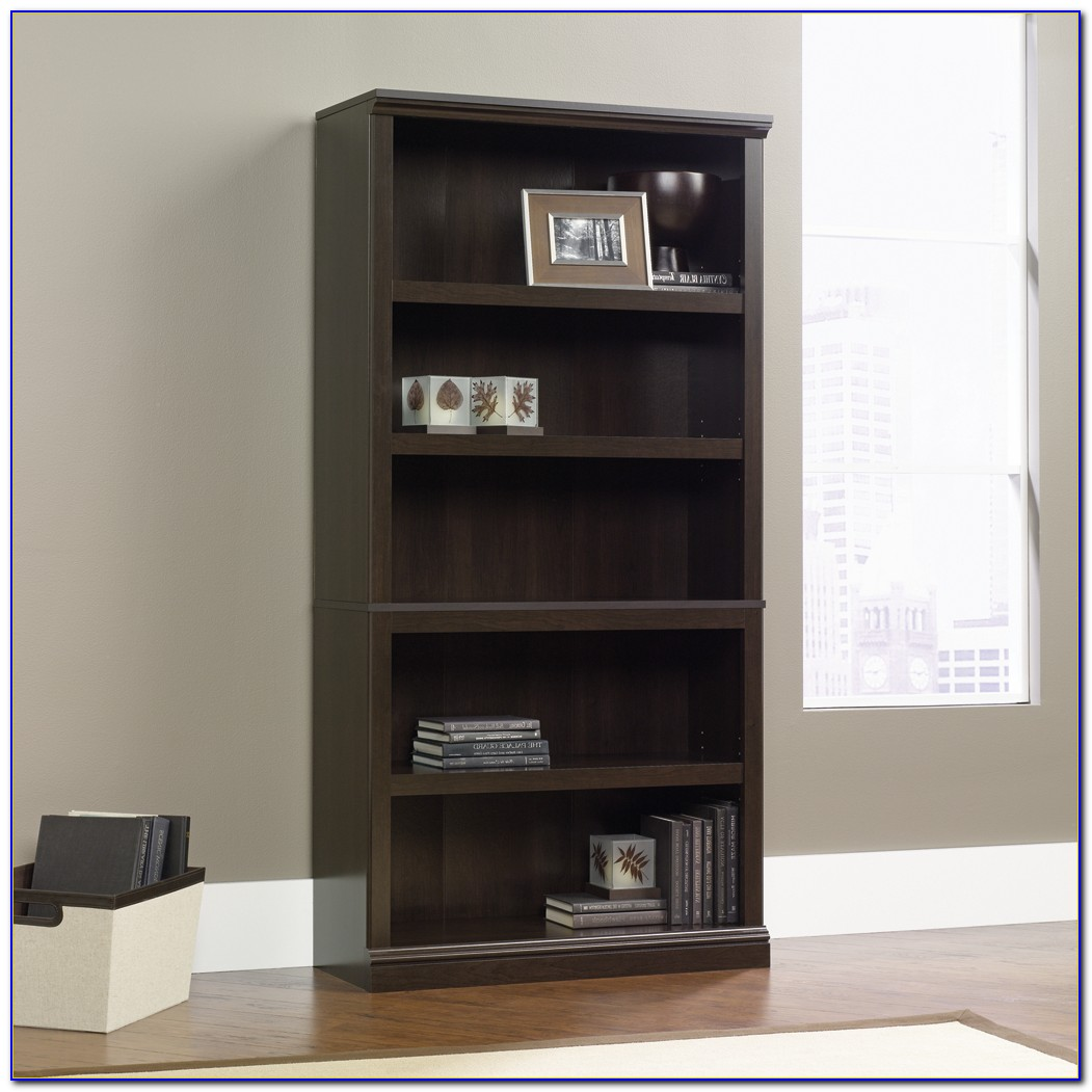 Sauder Five Shelf Bookcase Matte Black Finish