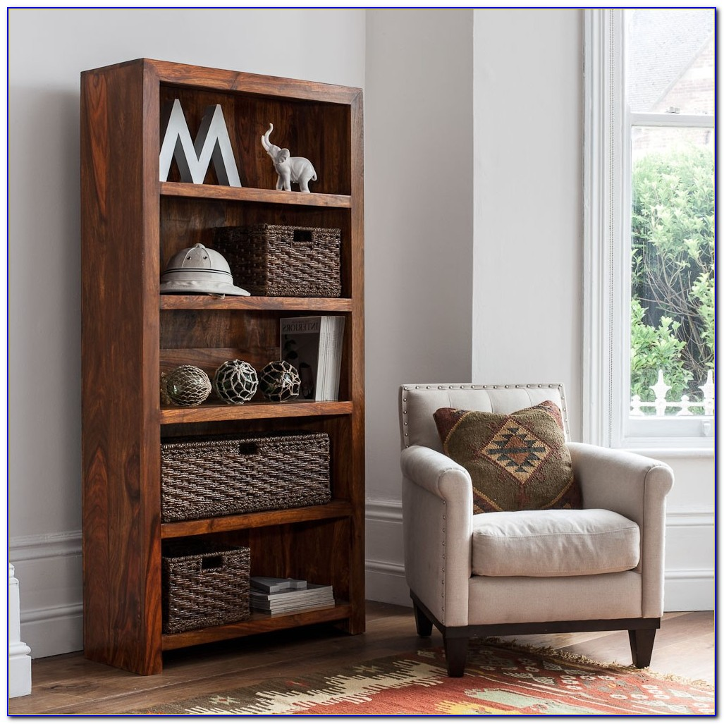 Sheesham Dark Wood Bookcase