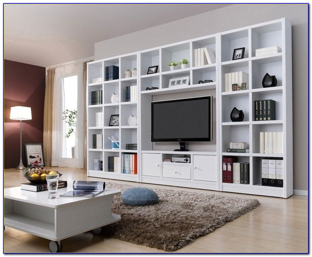 Sliding Bookcase Tv Free Standing Wall Unit