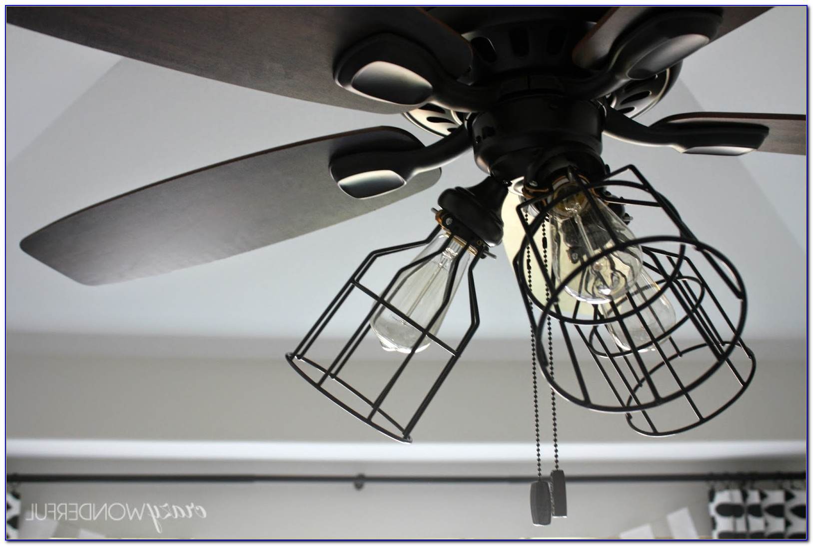 Small Caged Ceiling Fan