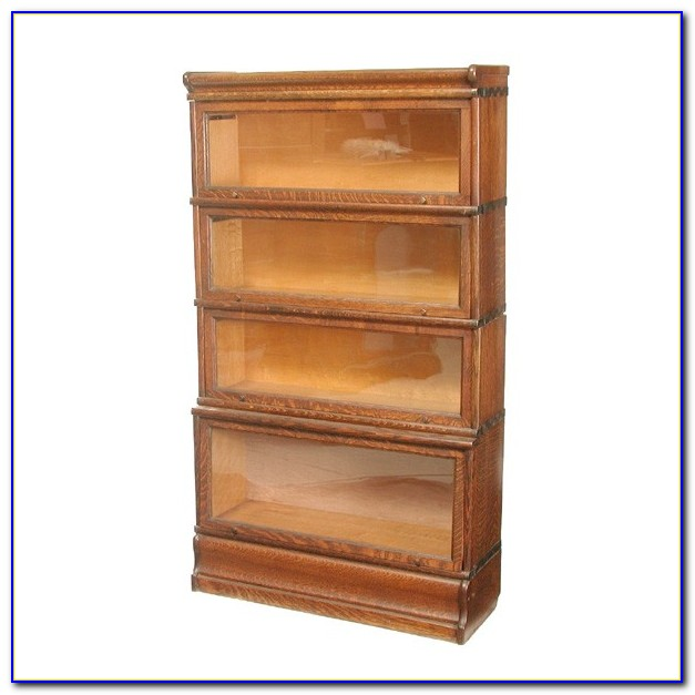 Solid Oak Lawyers Bookcase