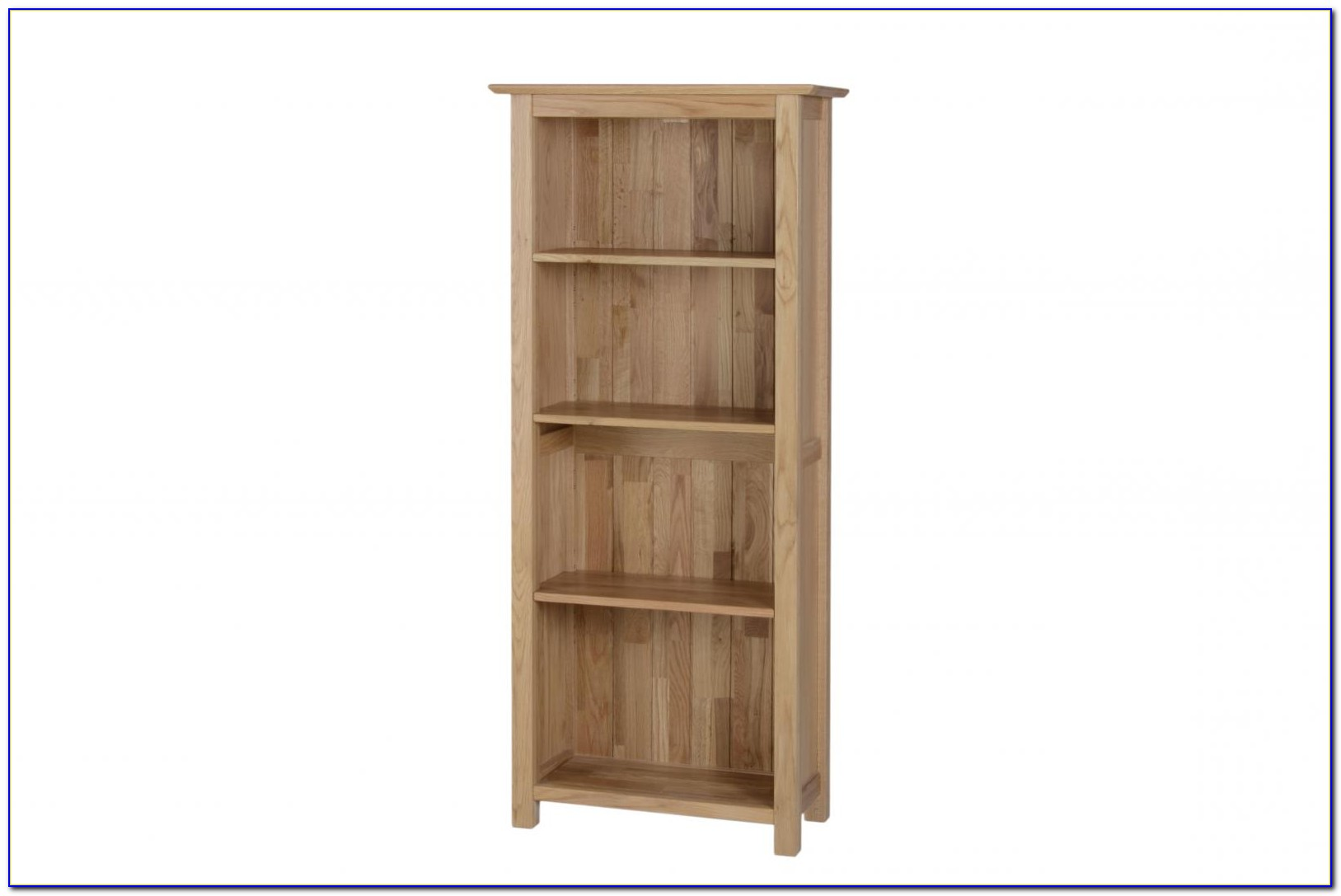 Solid Oak Narrow Bookcase