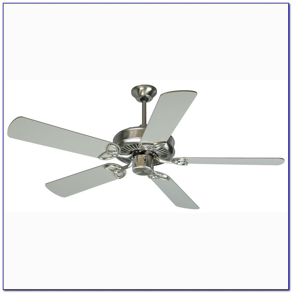 Stainless Steel Ceiling Fan Without Light
