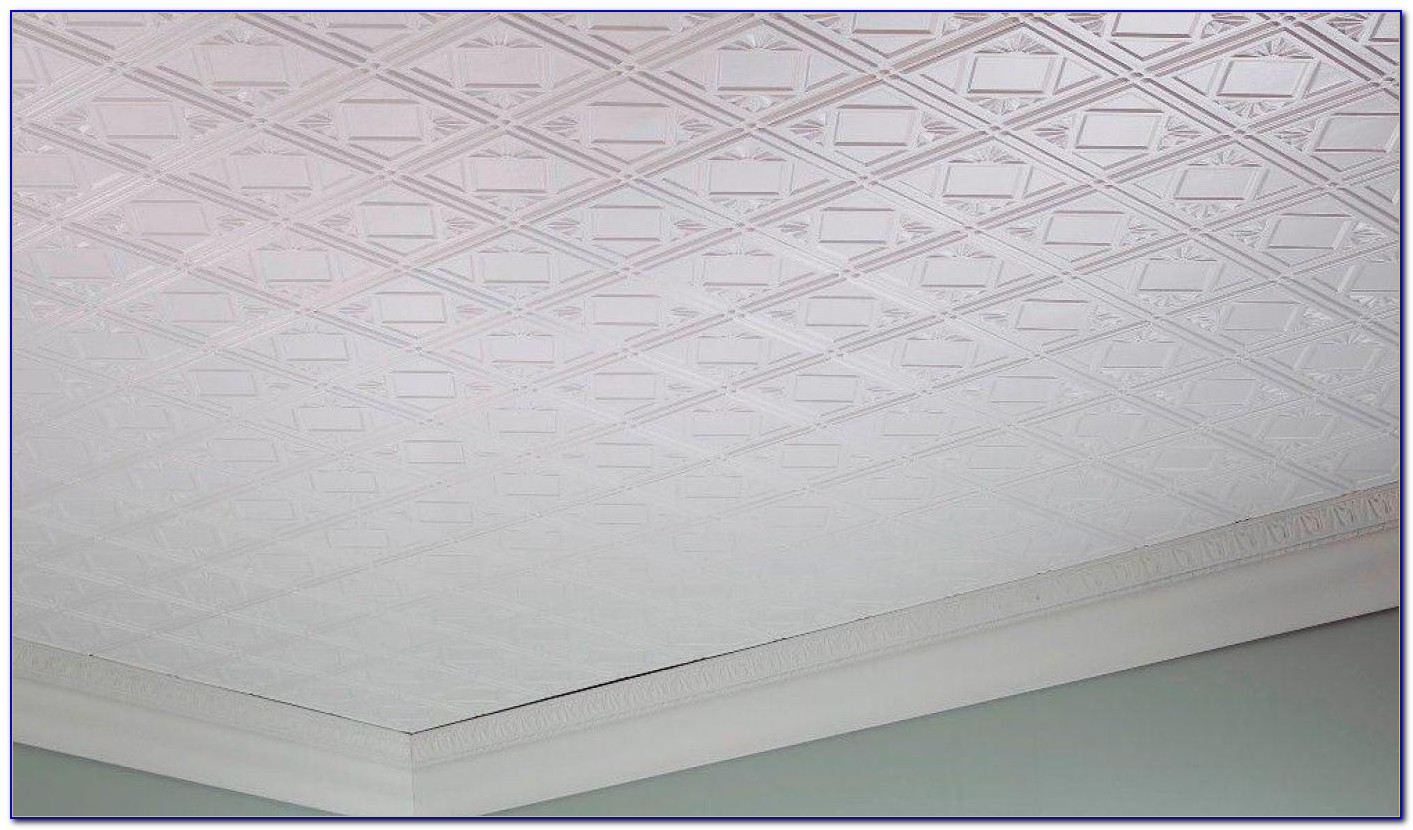 Styrofoam Glue Up Ceiling Tiles