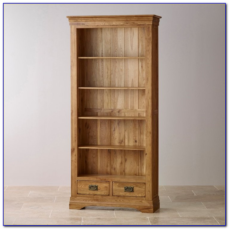 Tall Slim Oak Bookcase