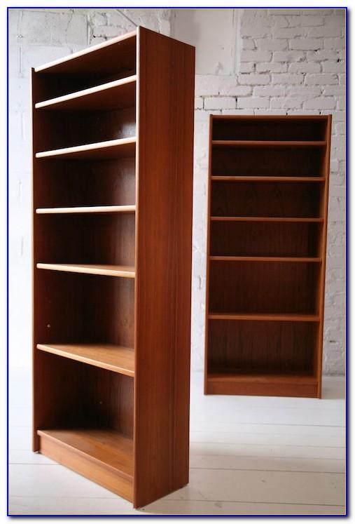 Teak Wood Sliding Door Bookcase