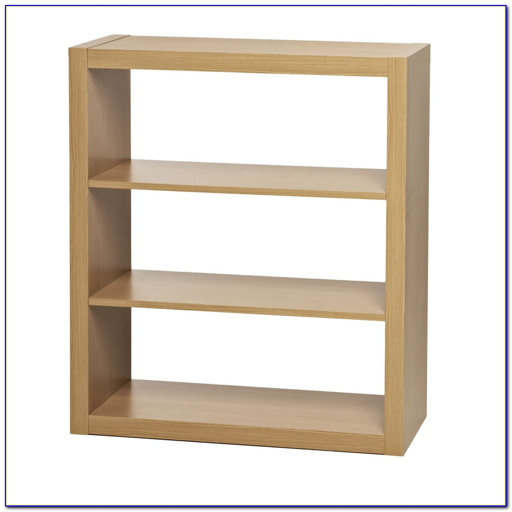 Three Tier Modern White Bookcase