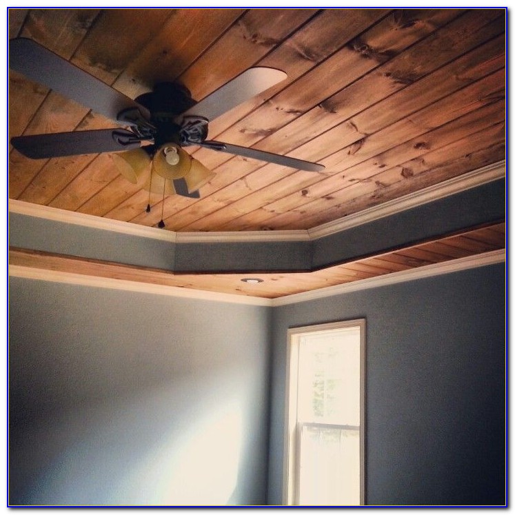 Tongue And Groove Wood Ceiling Installation