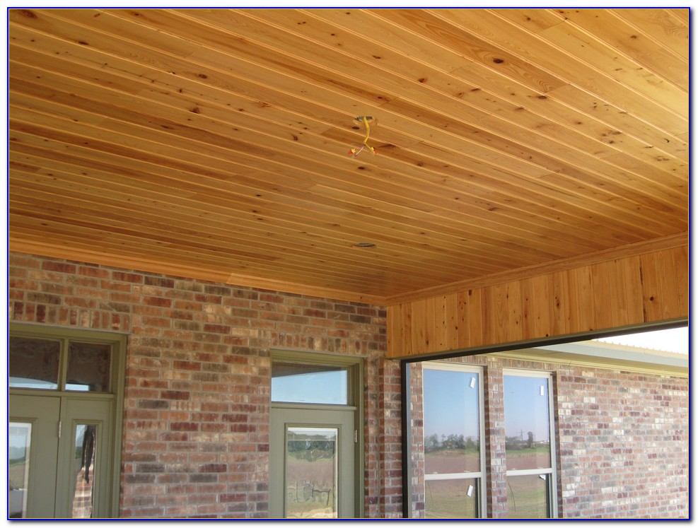 Tongue And Groove Wood Porch Ceiling