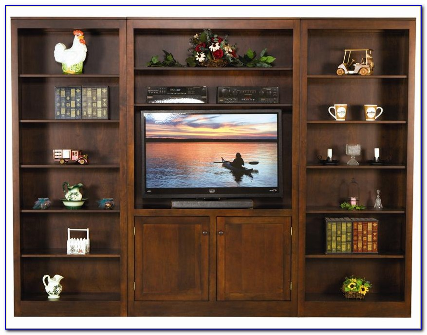 Tv Bookcase Wall Unit Plans