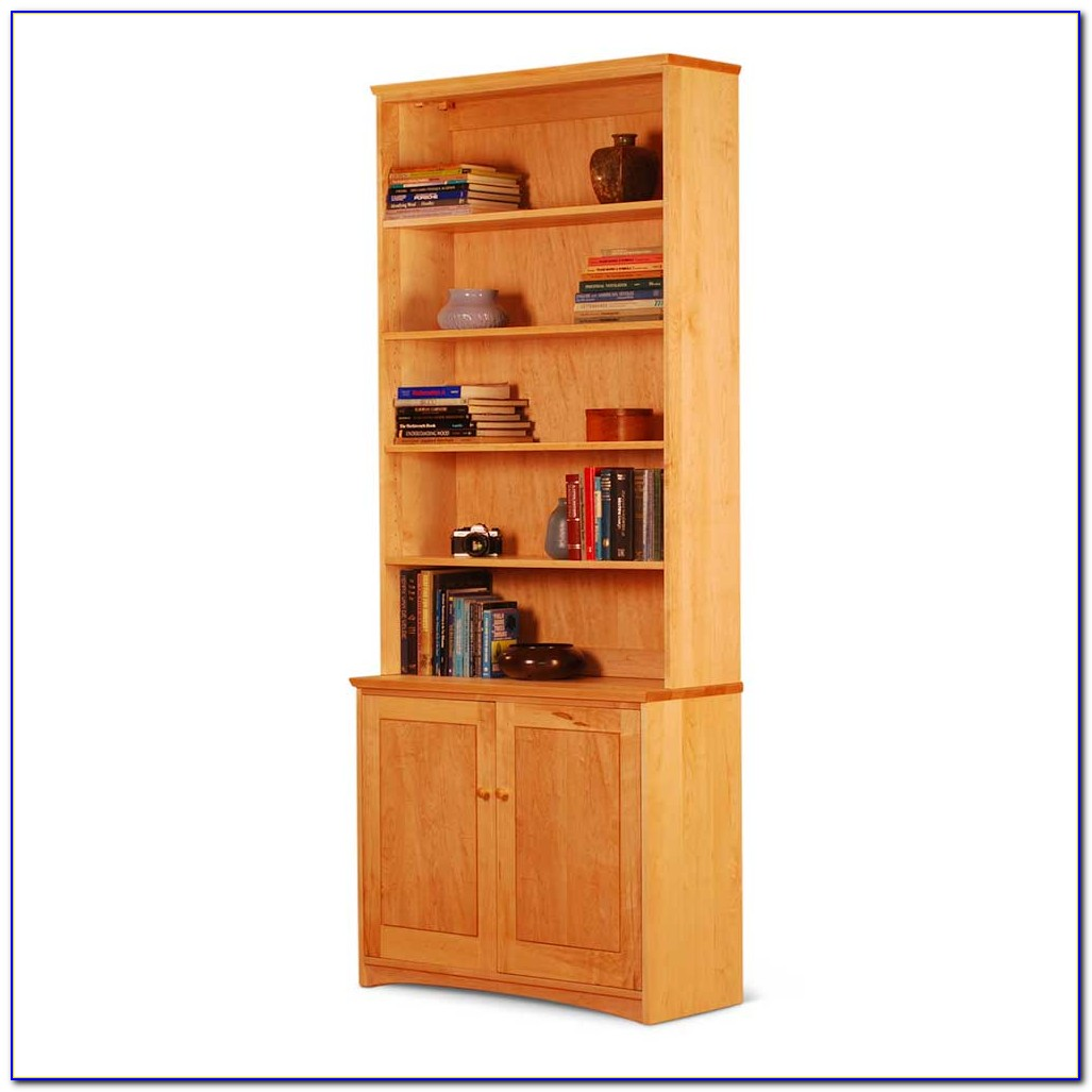 White Bookcase Cabinet With Doors