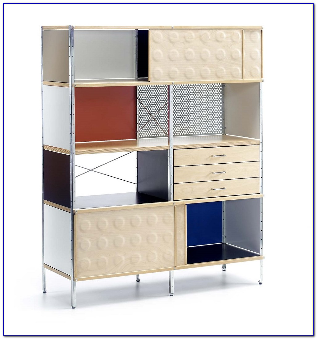 White Bookcase Storage Unit