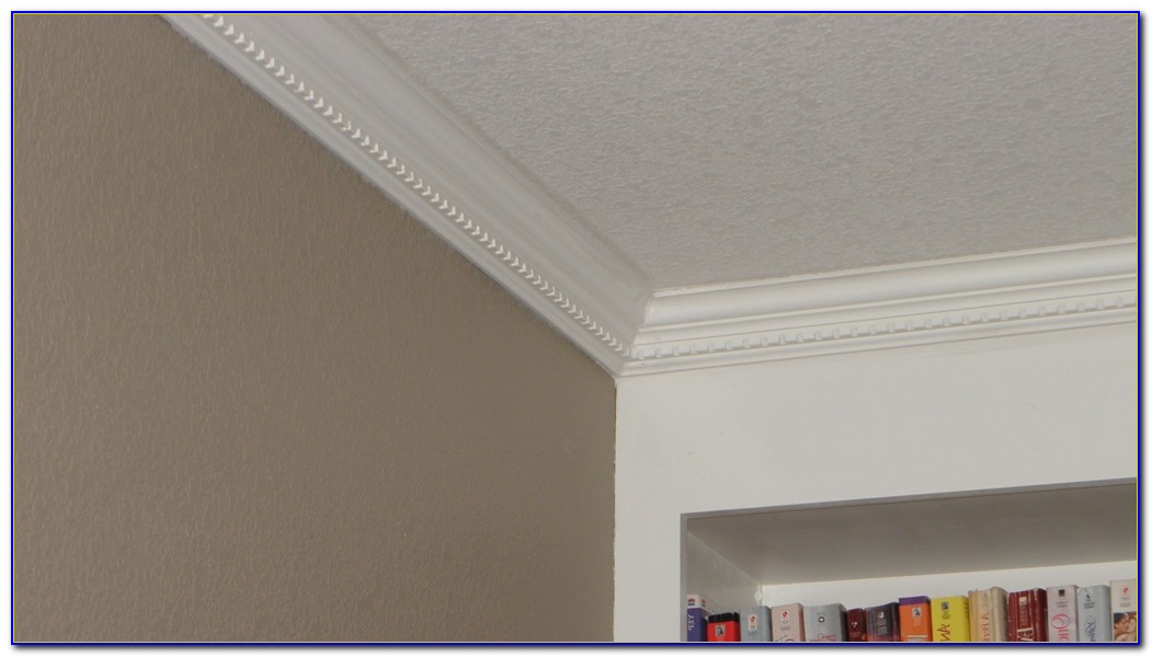 White Bookcase With Crown Molding
