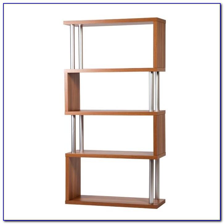 White S Shaped Bookcase