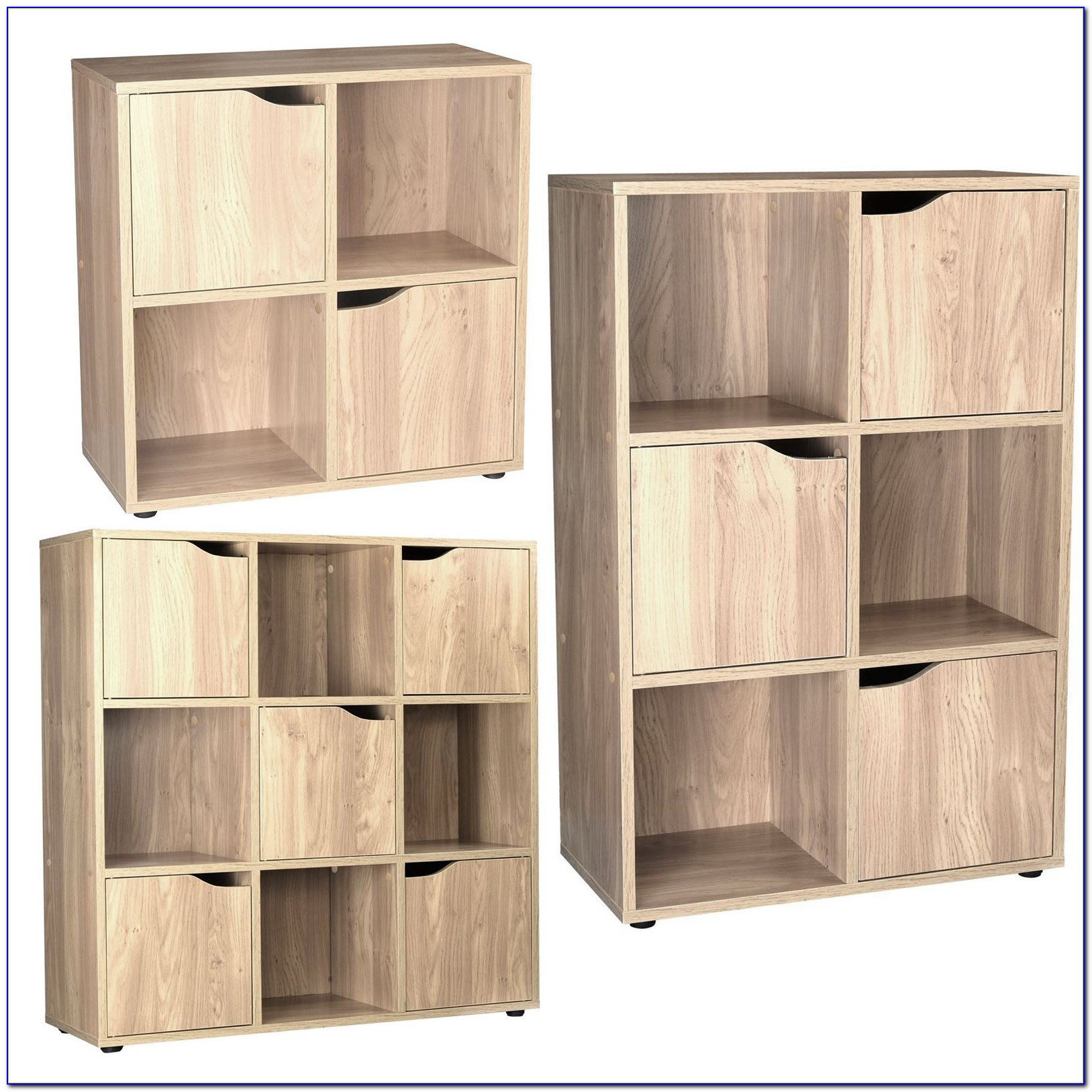 Wood Cube Bookcase