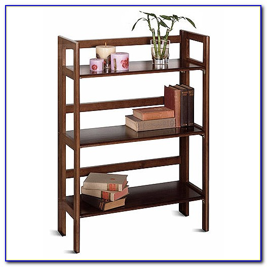 Wood Folding Bookcase