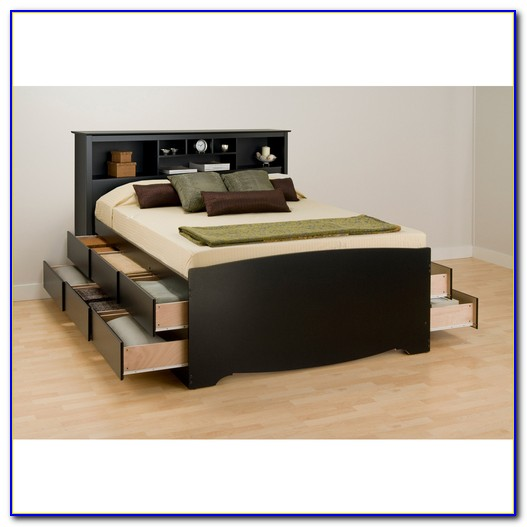 Youth Captains Bed Bookcase Headboard