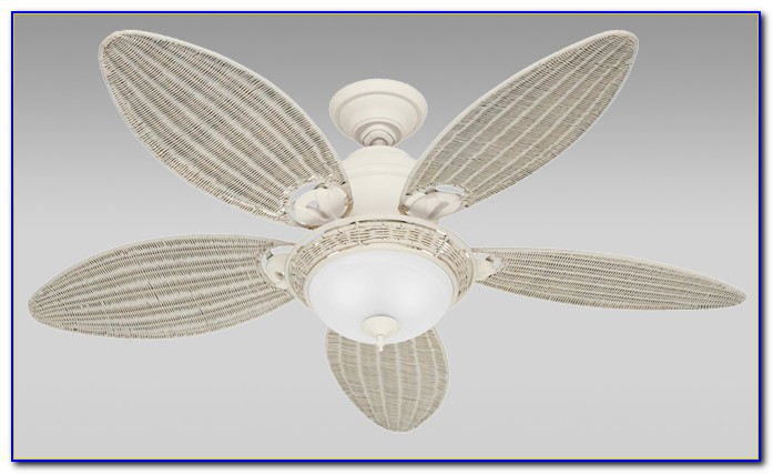42 White Wicker Ceiling Fan