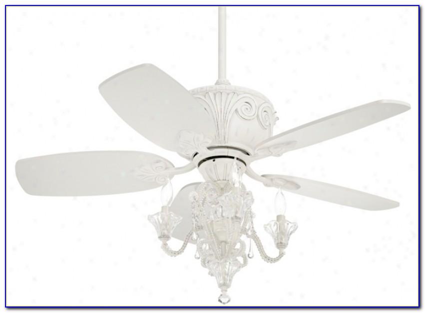 43 Casa Deville Antique White Ceiling Fan With Light