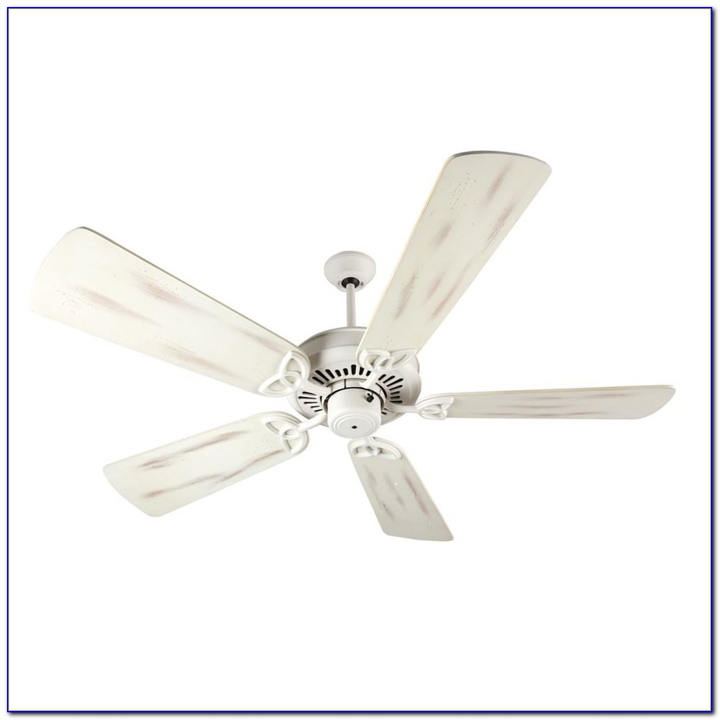 Antique White Ceiling Fan With Light