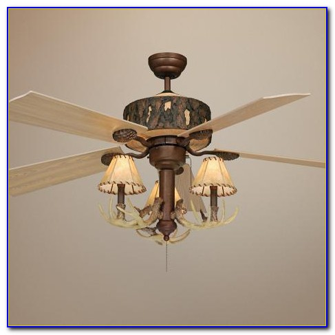 Antler Ceiling Fan With Light