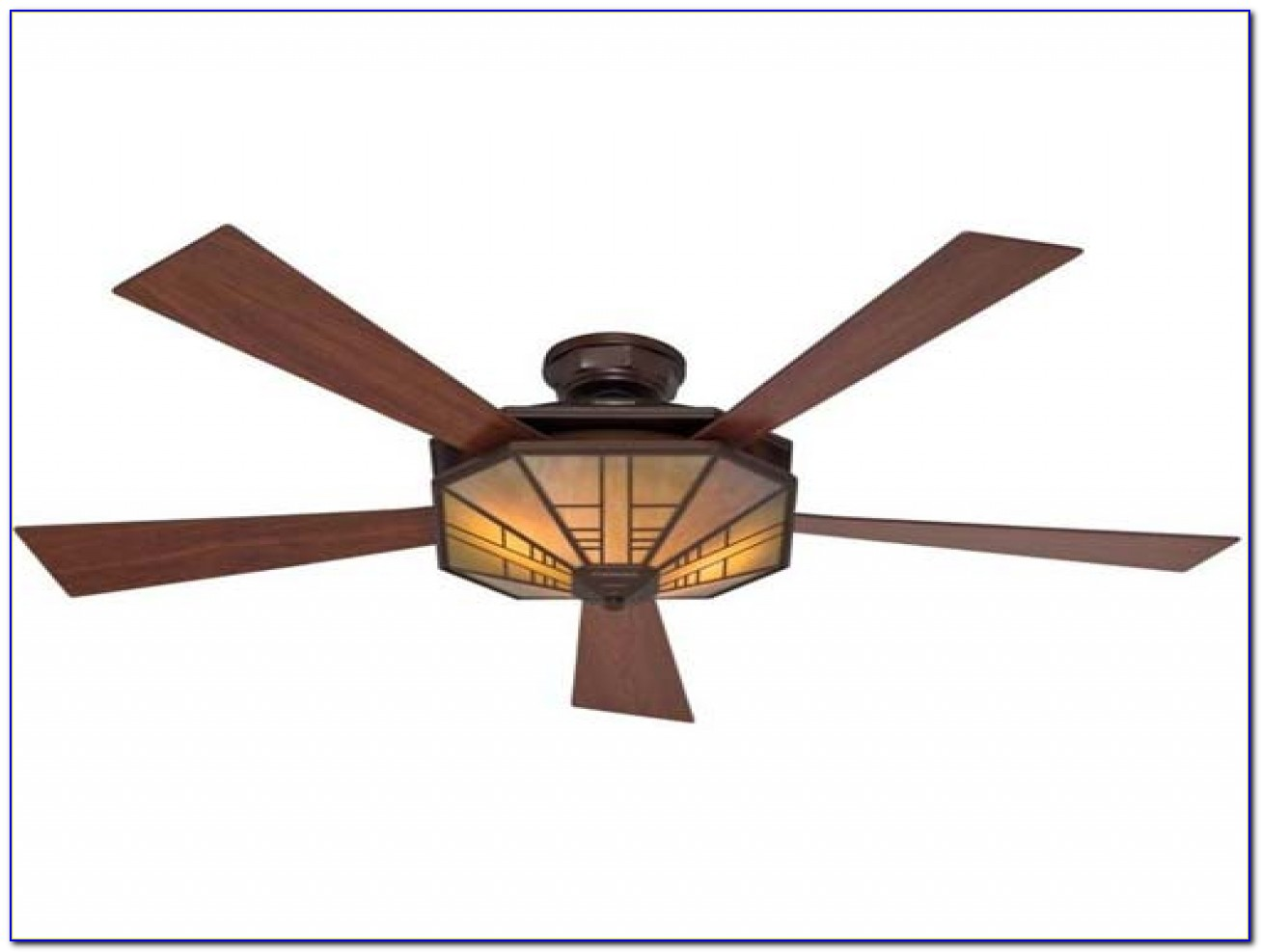 Arts And Crafts Ceiling Fan With Light