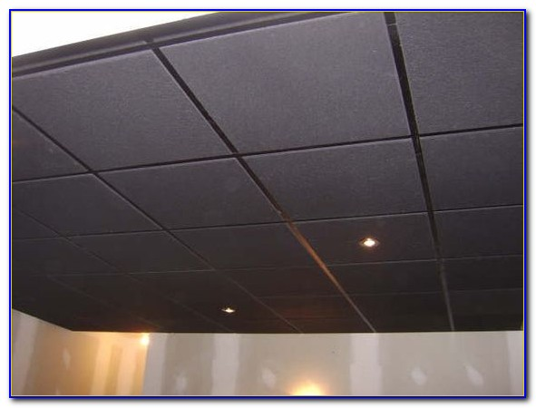 Black Acoustic Ceiling Tiles 2x2