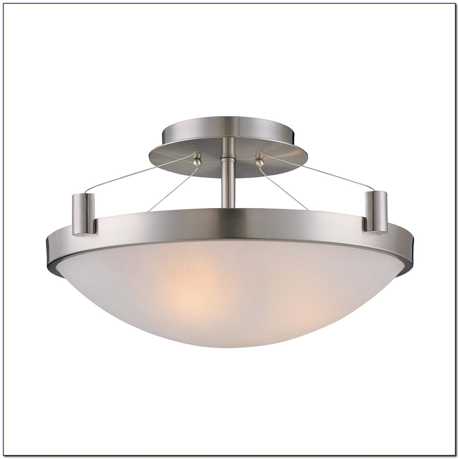 Brushed Nickel Semi Flush Ceiling Light