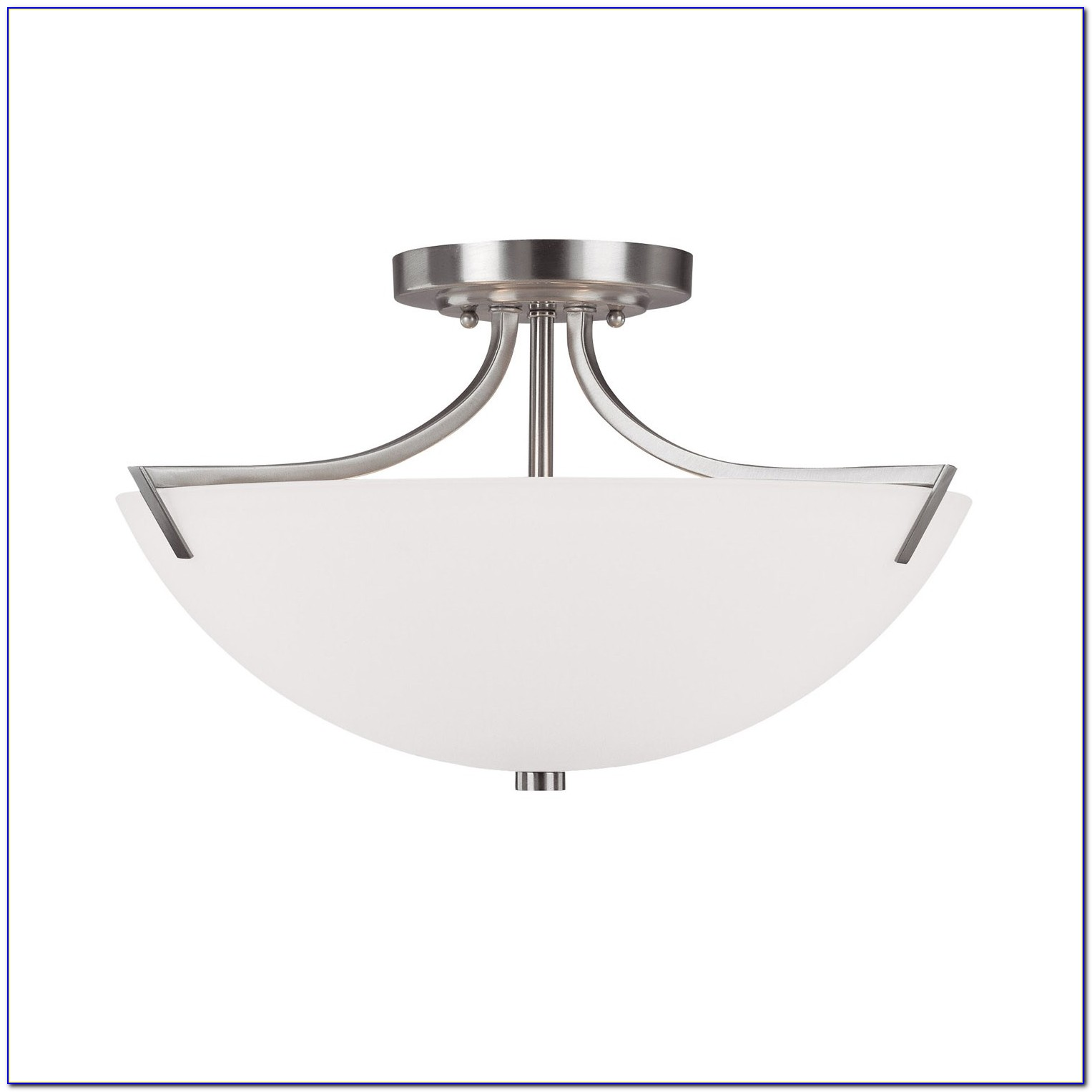 Brushed Nickel Semi Flush Mount Lighting