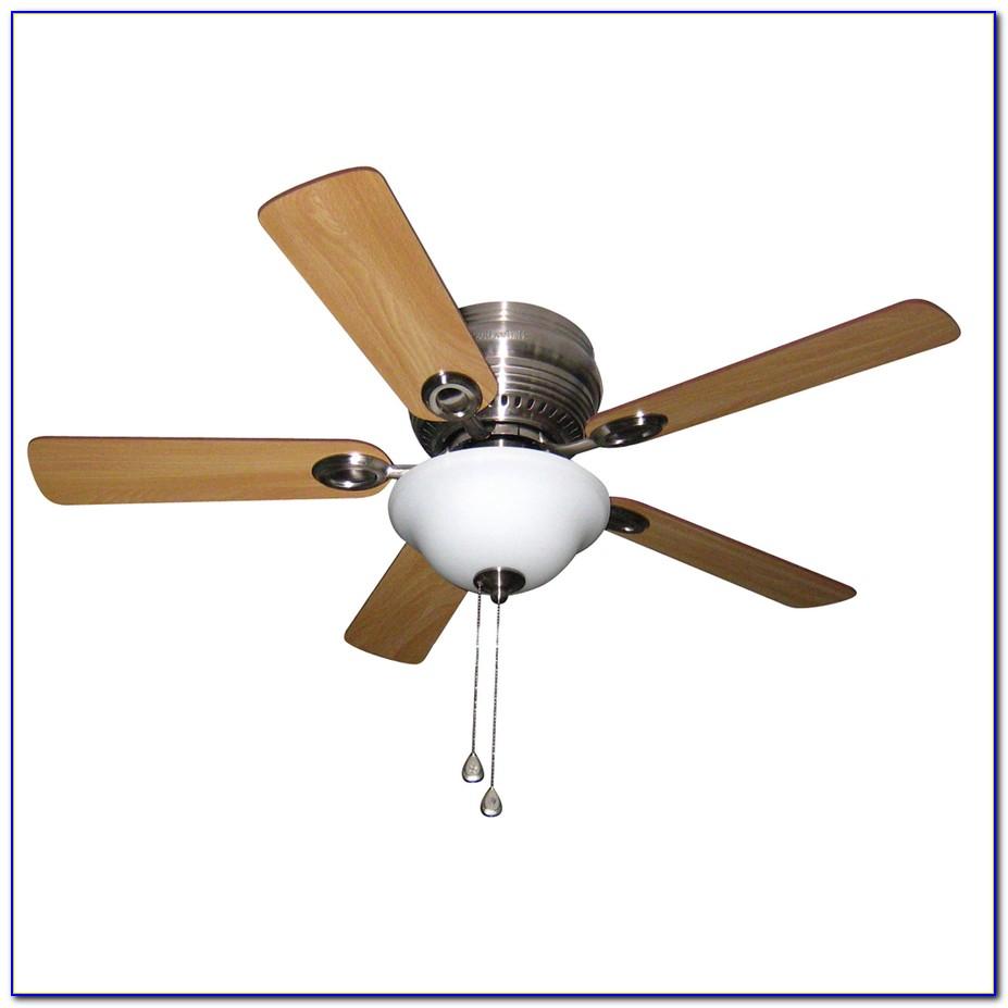 Burgess 52 In. Flush Mount Brushed Nickel Ceiling Fan